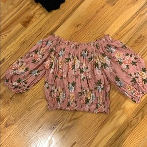 adorable pink floral top size S from forever 21